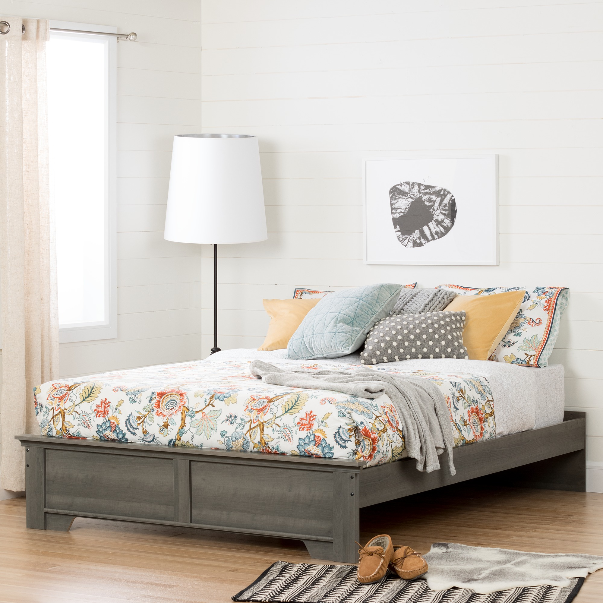 South Shore Versa Queen Platform Bed (60''), Multiple Finishes