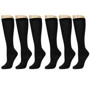 Knee High Uniform School Soccer Socks Dance Womens Girls Black Size 9-11 6-8 Lot