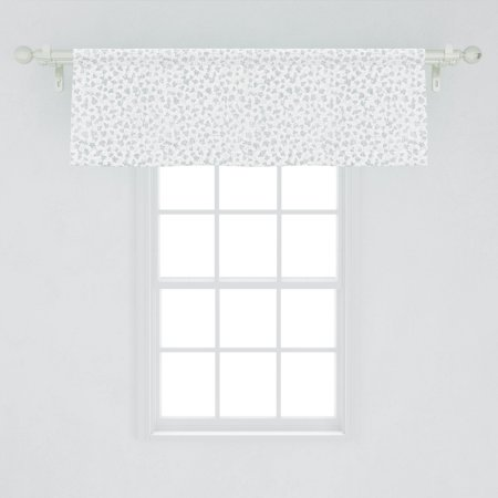 Vines Window Valance, Rhythmic Abstract Vine Grapes Leaves Simplistic Pastel Delicate Pattern, Curtain Valance for Kitchen Bedroom Decor with Rod Pocket, by Ambesonne