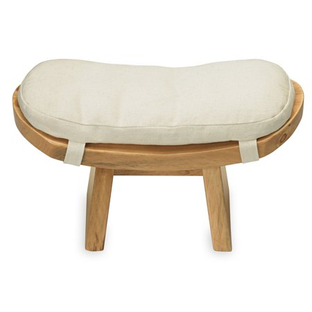 Gaiam Curved Meditation Bench And (Hand Carved Fine Wood)