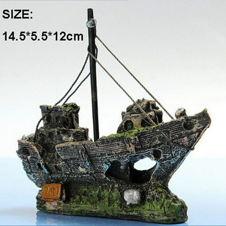 Joyfeel Clearance Fish Tank Decoration Aquarium Accessories Ornament Cave Landscape Castles Corsair - Castle Decoration