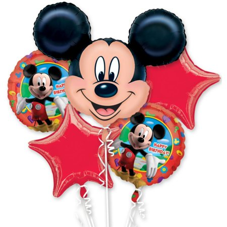 Mickey Mouse Mylar Balloon Bouquet (each) - Party Supplies (Mickey Mouse Party Theme Decorations)
