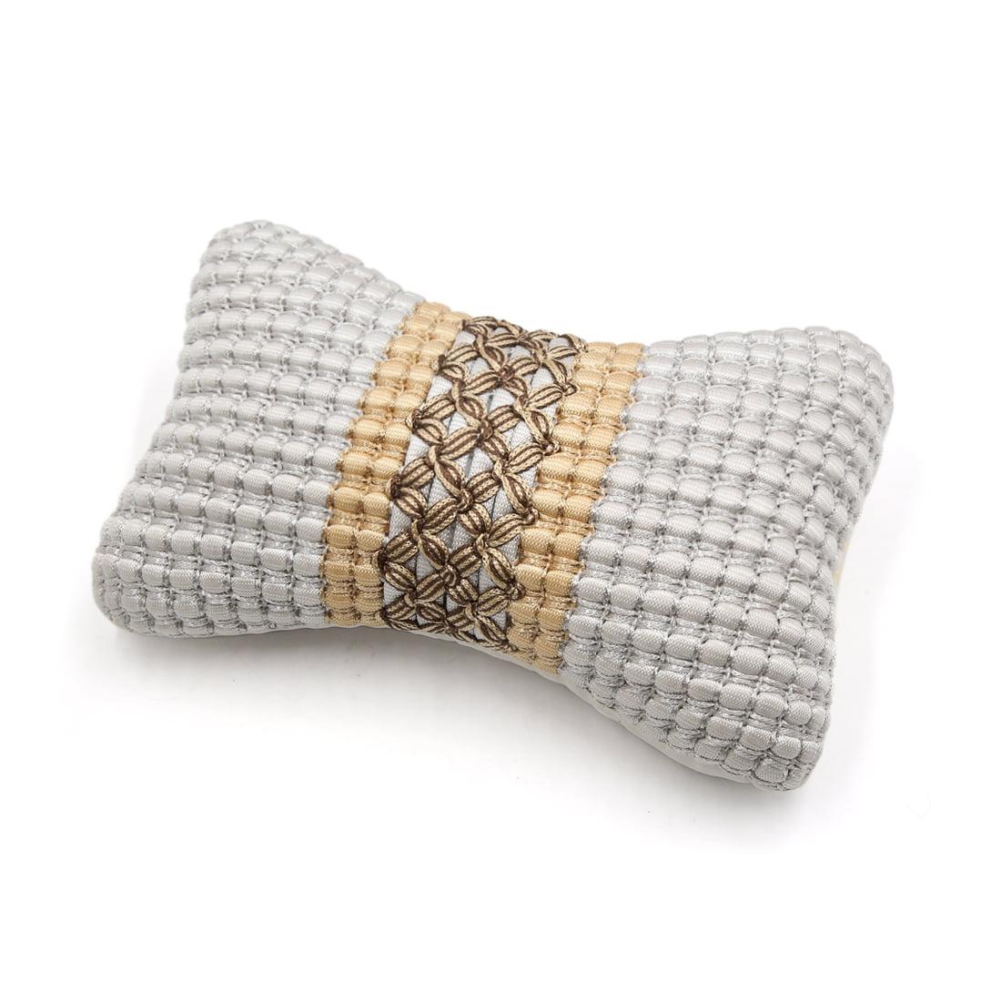 Gray Ice Silk Car  Headrest Pillow Head Neck Rest Support Cushion Pad
