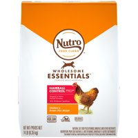 NUTRO WHOLESOME ESSENTIALS Natural Dry Cat Food, Hairball Control Adult Cat Chicken and Brown Rice Recipe, 14 lb. Bag