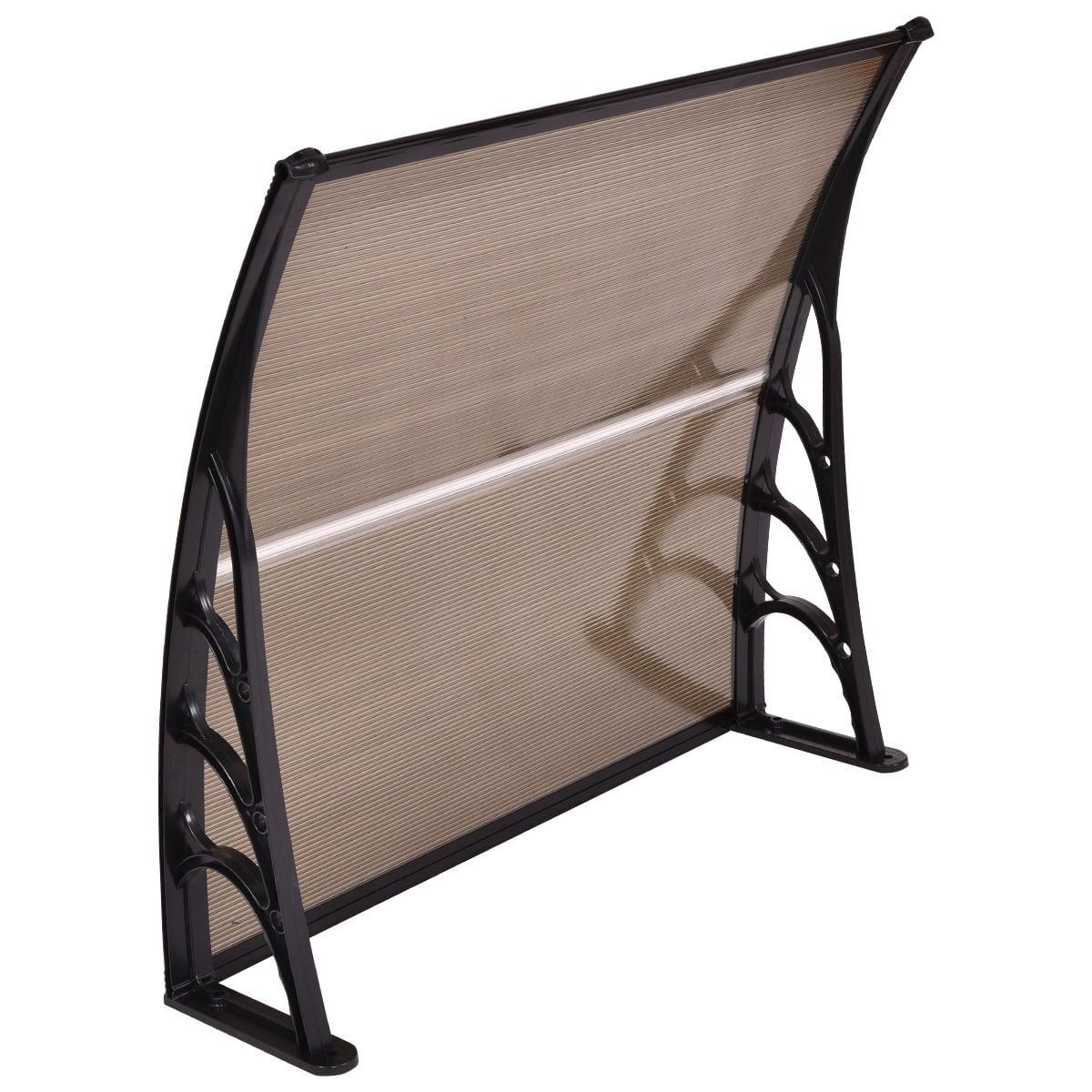 """Costway 40""""x 40"""" Window Awning Door Canopy Outdoor Front Door dark brown - image 5 of 6"""