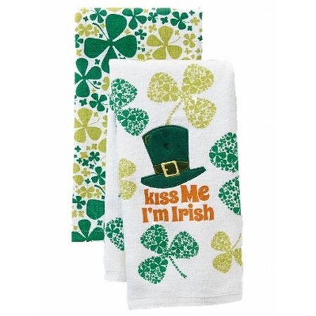 St Patricks Day Kiss Me I M Irish Kitchen Towel Set Shamrock 2