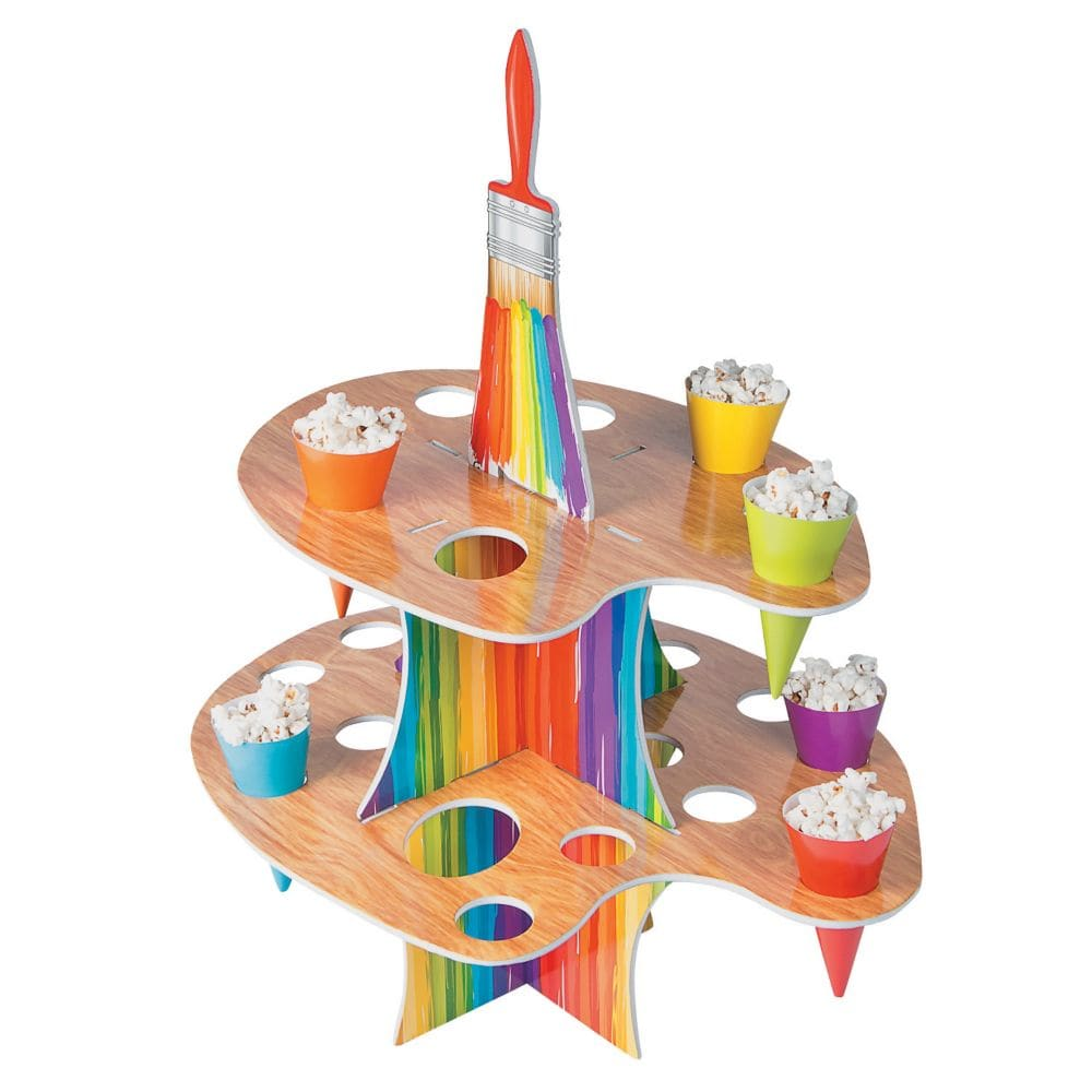 Fun Express 13653480 Artist Party Treat Stand with Cones