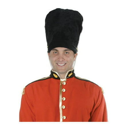 British Royal Guard Bearskin Hat English Military Toy Soldier Fur Black Adult