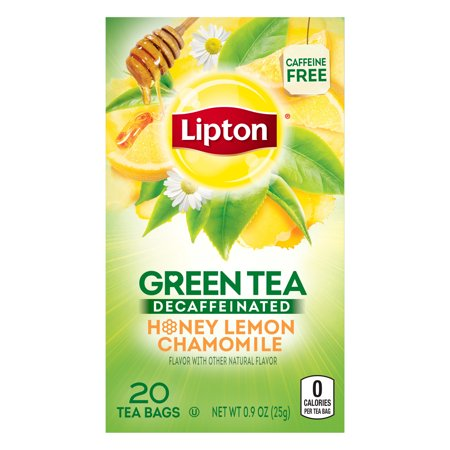 (4 Boxes) Lipton Green Tea Decaffeinated Honey Lemon 20 (Barrys Decaffeinated Tea)