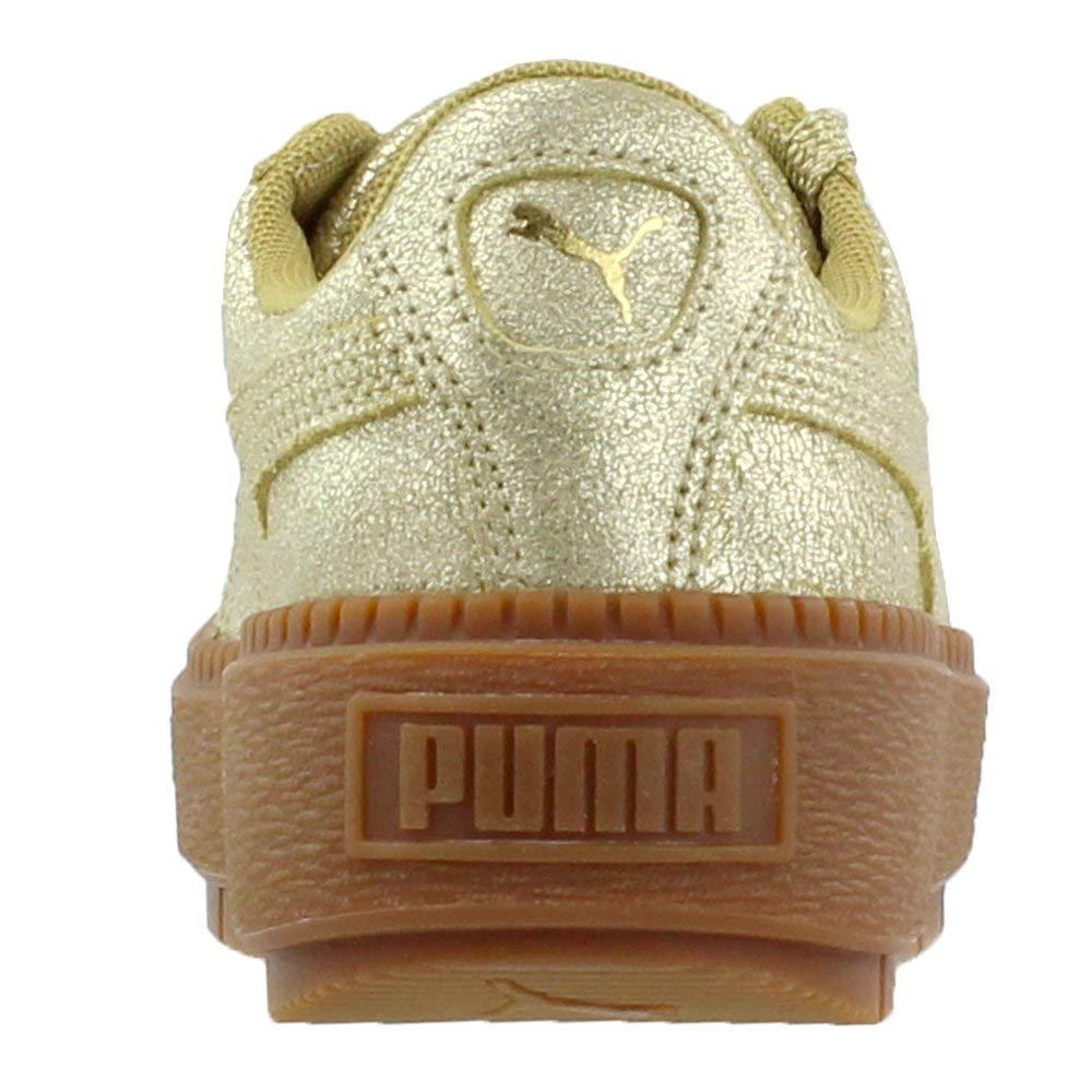 PUMA Puma Women's Basket Platform Trace Sneakers, Metallic