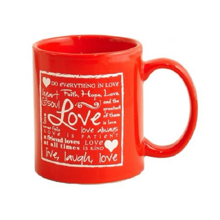 Christian Brands Written Reflections Love Ceramic Coffee Mug, 11 oz, in