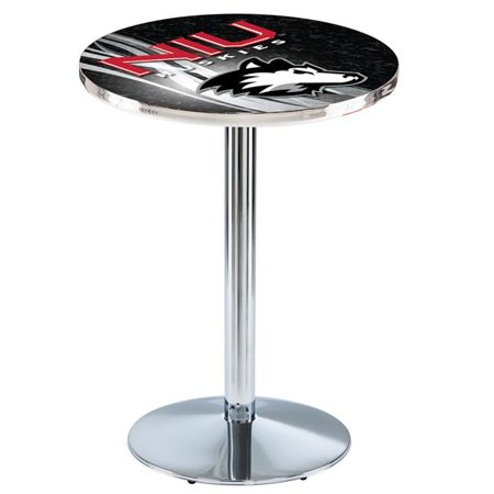 Holland Bar Stool L214C3628NorIll-D2 36 in. Northern Illinois Huskies Pub Table with 28 in. Top, Chrome - image 1 of 1
