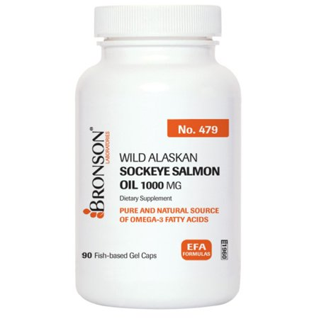 Bronson wild alaskan sockeye salmon oil 1000 mg 90 for Wild alaskan fish oil