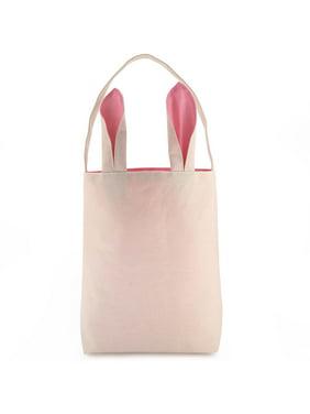 Product Image Easter Bunny Bag - Easter Basket Tote Handbag - Dual Layer  Bunny Ears Design Jute Cloth 51a19ebd0f7c7