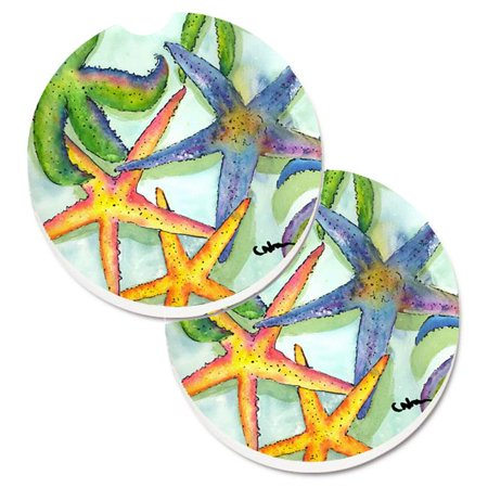 Starfish Set of 2 Cup Holder Car Coaster - image 1 of 1