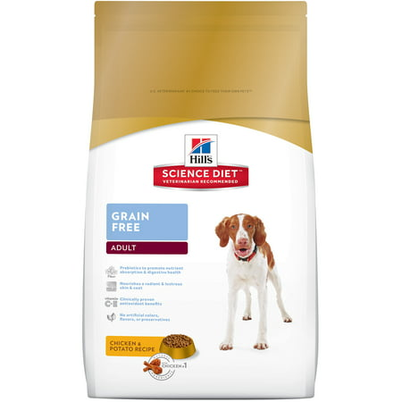 Hill's Science Diet Adult Grain Free Chicken & Potato Dry Dog Food, 21 lb bag