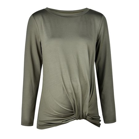 Jchiup Promotional Maternity Long Sleeve T-Shirts Tops Top with Front