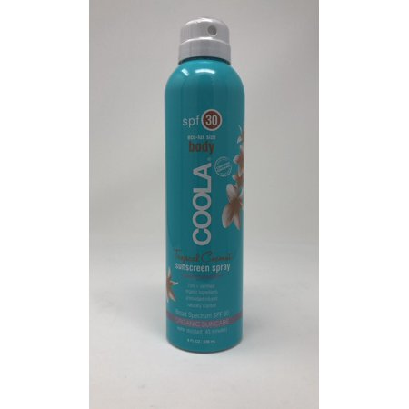 Body Spray Spf 30 Sunblock (Coola Eco-Lux Body SPF 30 Tropical Coconut Sunscreen Spray 8 oz)
