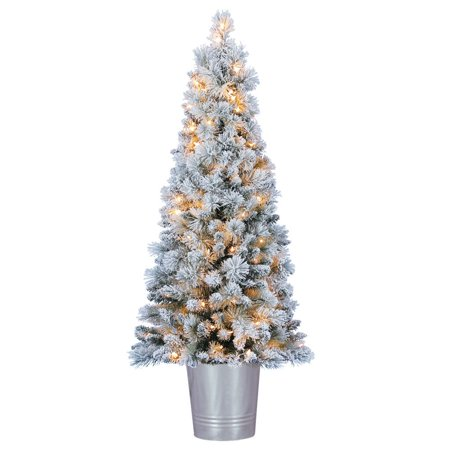 Home Heritage 4.5 Feet Entry Way PVC Pre Lit Artificial Christmas Tree w/ Stand ()