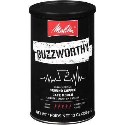 Melitta Buzzworthy High Caffeine Ground Coffee, 13 oz
