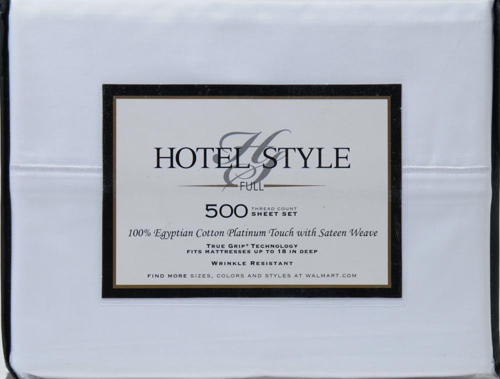 hotel style 500 thread count egyptian cotton bedding sheet set walmartcom - 100 Egyptian Cotton Sheets