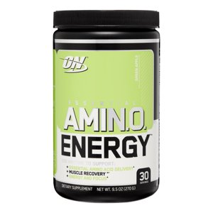Optimum Nutrition Amino Energy Pre Workout + Essential Amino Acids Powder, Green Apple, 30 Servings