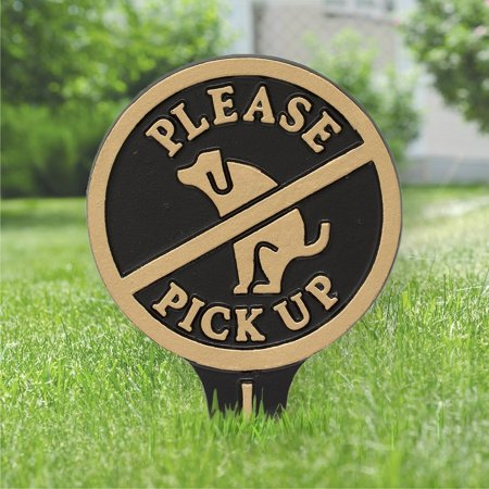 Whitehall Please Pick Up No Poop Dog Aluminum Yard Sign (Jim Whitehall)