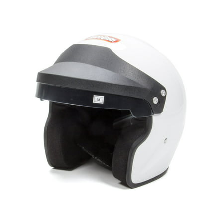 RACEQUIP/SAFEQUIP Medium White Open Face Helmet P/N 253113