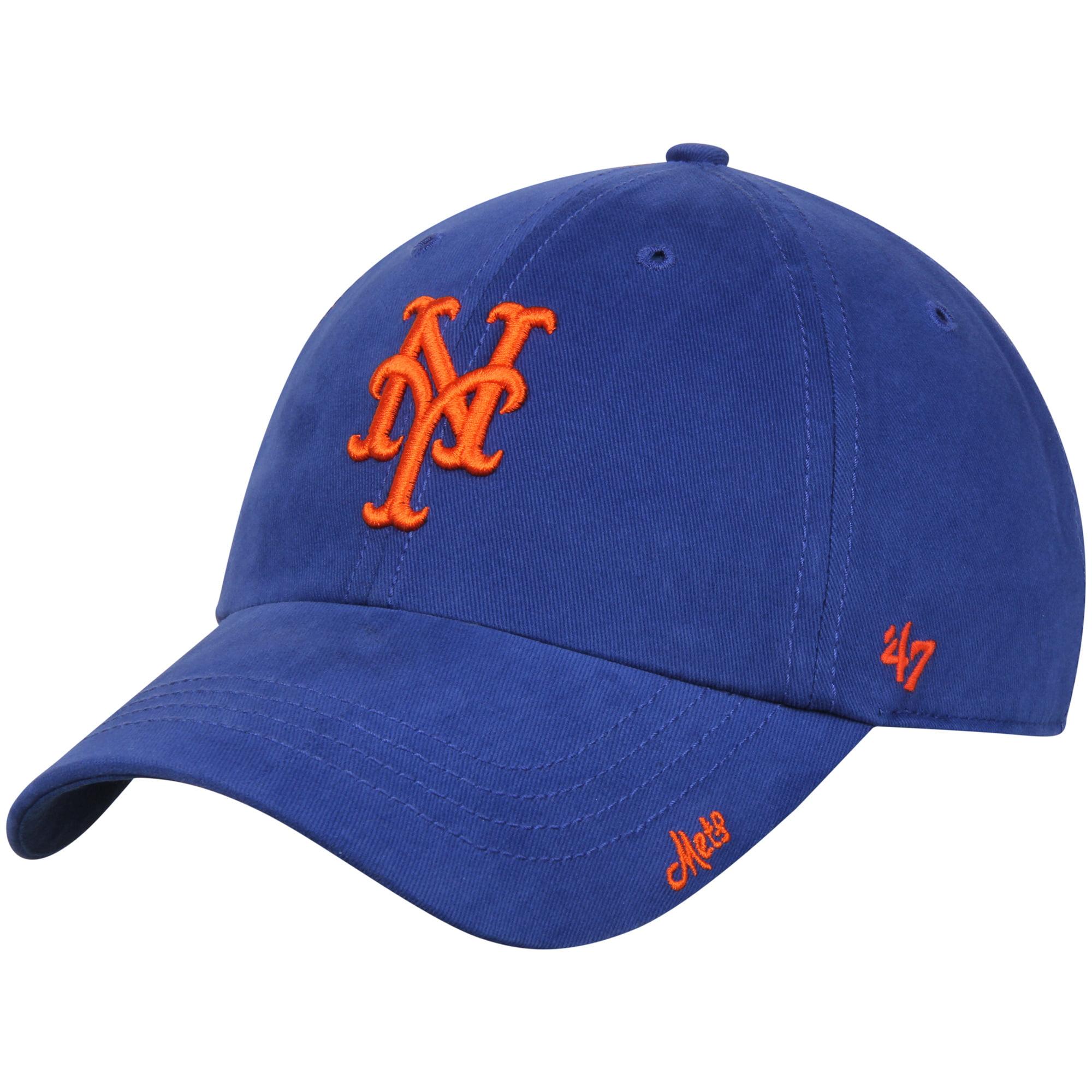 New York Mets '47 Women's Miata Clean Up Adjustable Hat - Royal/Orange - OSFA