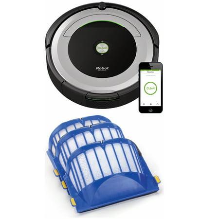 Irobot Roomba 690 Wi Fi Connected Robotic Vacuum W  Aerovac Filter  3 Pack