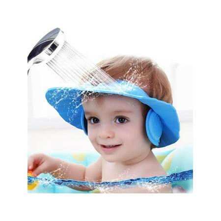 aba91d60f18 Adjustable Foam Baby Kid Children Shampoo Bath Shower Cap Hat bathing hat  Wash Hair Shield - Walmart.com