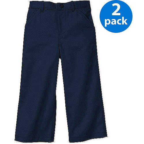 George Toddler Boy School Uniform Pants, 2 Pack Value Bundle