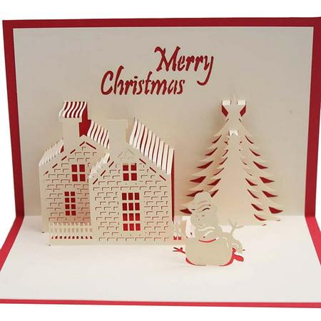 Unique Christmas Cards.Beautiful Unique Christmas Cards 3d Pop Up Merry Christmas