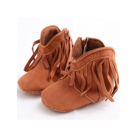Topumt Newborn Toddler Boots Shoes Fringe Tassel Boots Baby Infant Boy Girl Soft Soled Winter Shoes