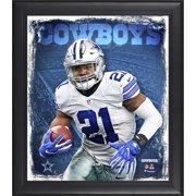 "Ezekiel Elliott Dallas Cowboys Framed 15"" x 17"" Playmaker Collage - Fanatics Authentic Certified"