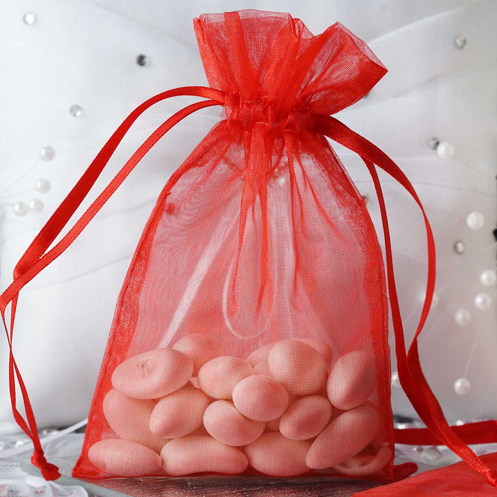 Efavormart 10PCS Organza Gift Bag Drawstring Pouch for Wedding Party ...