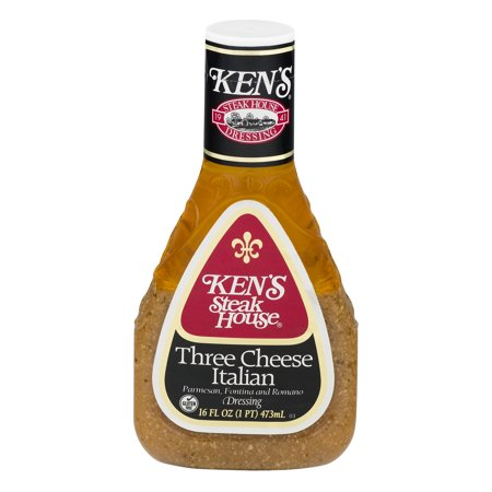 (2 Pack) Ken's Steak House Three Cheese Italian Dressing, 16 fl (Best Steak In Tampa Fl)