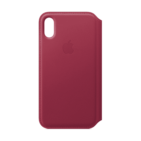 Apple Leather Folio for iPhone X - Berry