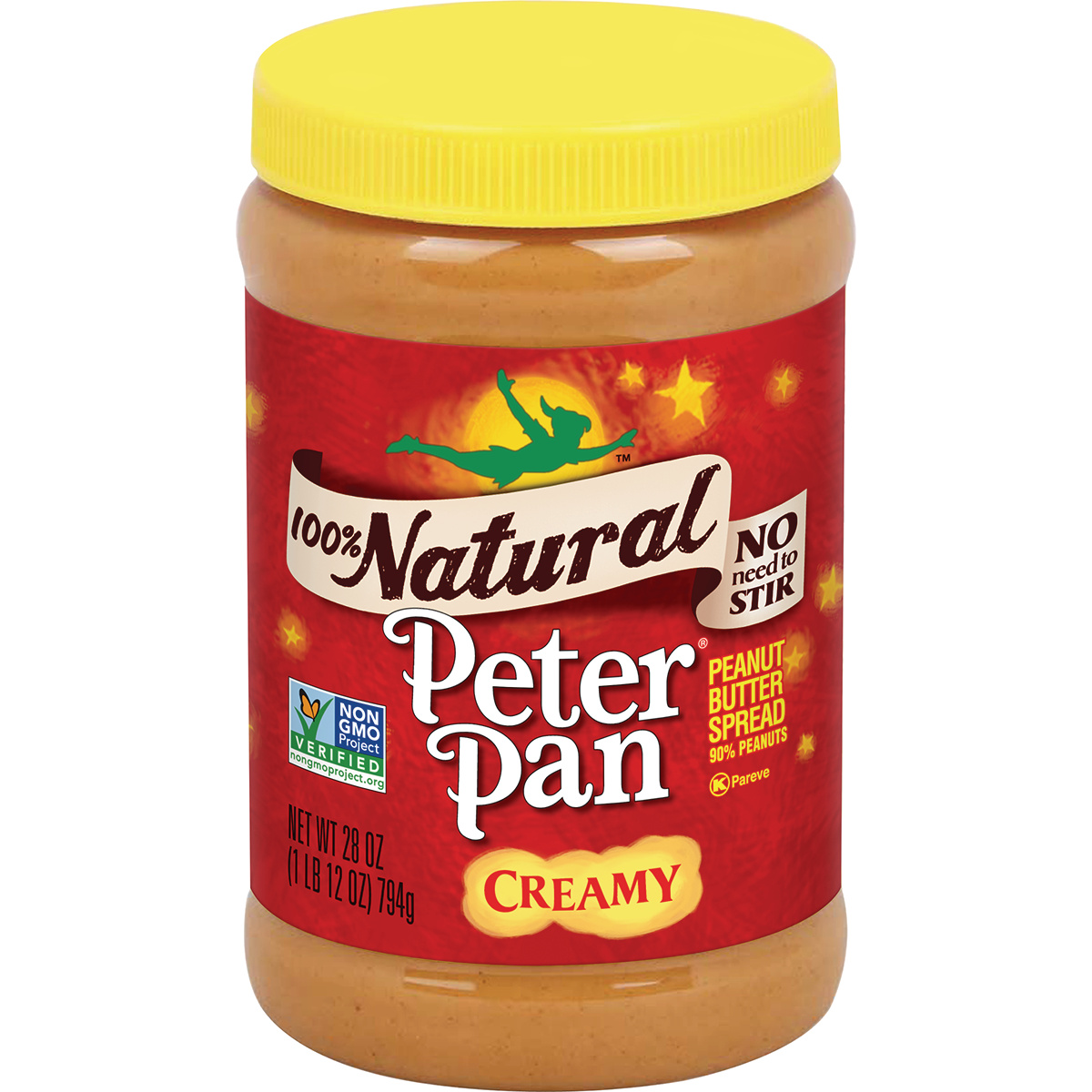 Peter Pan 100% Natural Creamy Peanut Butter Spread, 28 Ounce