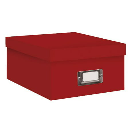 Pioneer Photo Albums B-1S Photo Storage Box, Bright Red