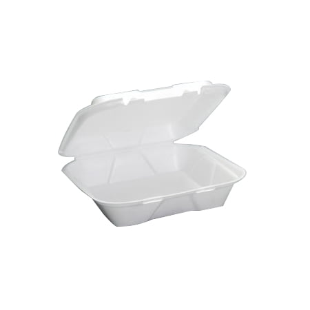 Genpak Quality To Go Snap It Foam Take Out Large Value Ware Food Container White, 9.25