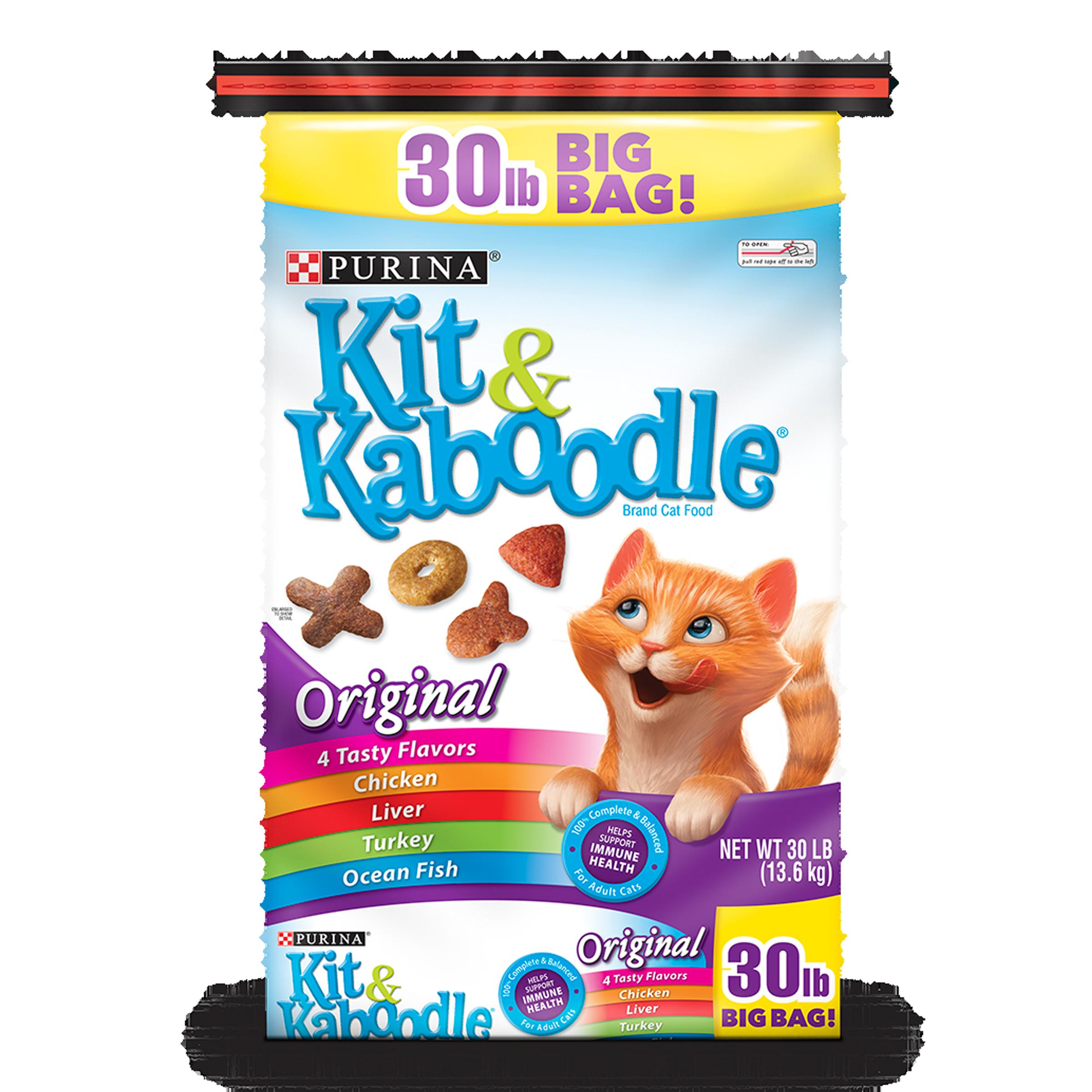 Purina Kit & Kaboodle Original Adult Dry Cat Food, 30 lb