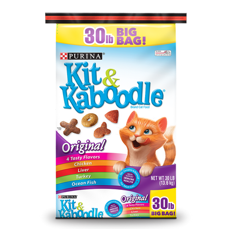 Purina Kit & Kaboodle Original Dry Cat Food, 30 (Best Food For Struvite Crystals In Cats)