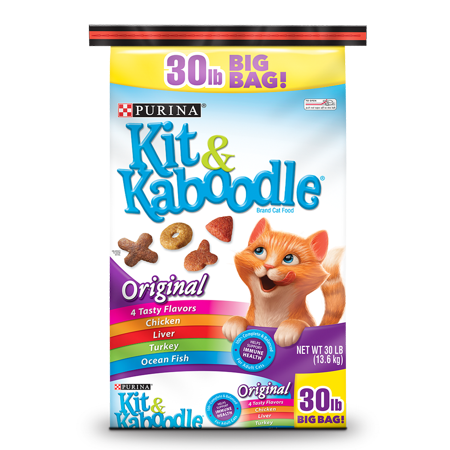 Purina Kit & Kaboodle Original Dry Cat Food, 30