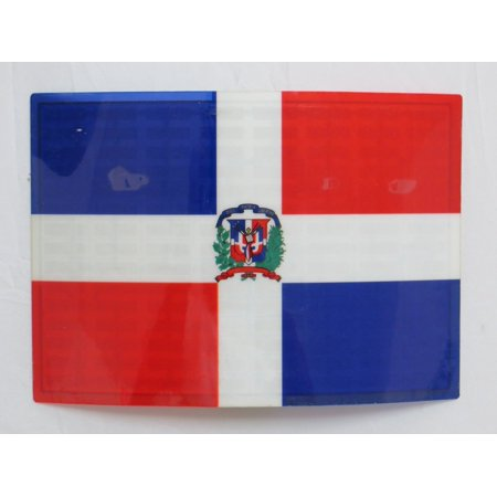 Dominican Republic Panel - Dominican Republic DR Flag FLASHING Sound Activated DJ Light Up LED Decal Sticker Patch Panel, Sound activated flag which lights up and flashes to music &.., By Accessory 4u inc Ship from US
