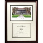 Campus Images MA992V Harvard University Scholar Framed Lithograph with Diploma
