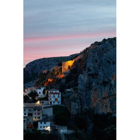 Moorish Castle (Colorful Sunset Over The Rustic Medieval Town And Moorish Castle Of Chulilla, Spain Print Wall Art By Ben)