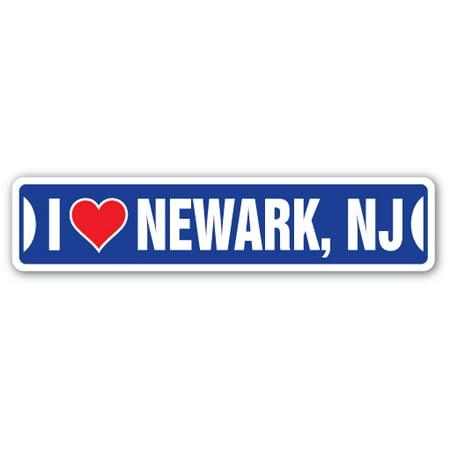 I LOVE NEWARK, NEW JERSEY Street Sign nj city state us wall road décor gift](Halloween City Hours Nj)