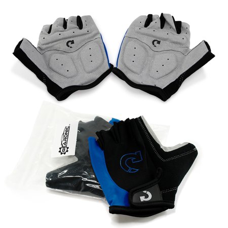 New Fashion Cycling Bike Bicycle Motorcycle Shockproof Outdoor Sports Half Finger Short Gloves ()