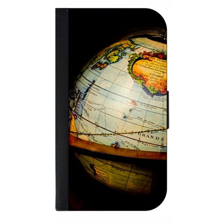 Glyde Phone - Vintage Style Globe - Phone Case Compatible with the Samsung Galaxy s9 - Wallet Style with Card Slots
